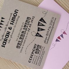 Whimisical © Paper Wedding 2015  Whimsical Wedding invitation from the Off-the-Rack collection: www.paperwedding....