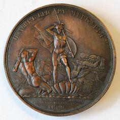 RUSSIA MEDAILLE Russo -Türkischer Krieg 1828–1829 Heldentat der Brigg  Mercurius