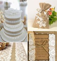 Having Rustic theme for your wedding can be a great idea when your decoration budget is tight. Not only it 's cheap but also this is a clever DIY way to create a nice , natural and simple decoration.Here are a few Rustic theme illustrations: Rustic burlap lace wedding cake...