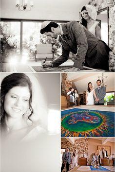 Ketubah Watercolor Hamsa (IQ Photo). View Full Wedding - www.mazelmoments.com/blog/16456/destination-jewish-wedding-cabo-beach-mexico/