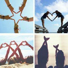 Fun and Creative Beach Photography Ideas, Leuke en creatieve strandfotografie-ideeën, # beach Best Friend Pictures, Bff Pictures, Friend Photos, Funny Group Pictures, Cute Bestfriend Pictures, Sister Photos, Beach Pictures, Family Pictures, Artsy Photos