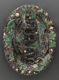Plat au serpent Bernard Palissy (vers 1510-1590)