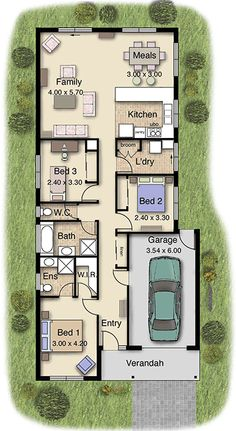 amazing house plans for wide blocks. Melba 152 home design  Only wide and will suit a variety of narrow blocks land Inspiration de plan maison 3 chambres garage Alliance