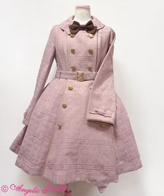 Angelic Pretty - Melty Ribbon Chocolate Trenchcoat - pink, size L