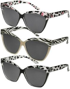Amazon.com: Retro Animal Print Cat Eye Printed Sunglasses - 3 Colors! (Turquoise Leopard, Black): Clothing