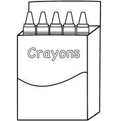 blank crayon coloring page Pre K Teacher Pinterest Crayons