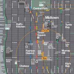 Pedestrian wayfinding in New York City has always been a challenge -- Pentagram's maps hope to change that.