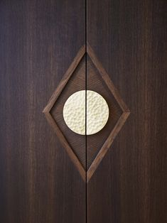 Agatha O I Wardrobes - St James Interiors - Fumed oak doors, marquetry detail around Ged Kennet handle, solid wood diamond pattern. Wood And Metal, Solid Wood, Double Doors Exterior, Wardrobe Handles, Porch Doors, Oak Doors, Wardrobe Design, Marquetry, Furniture Upholstery
