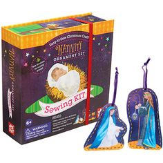 NATIVITY ORNAMENT SEWING KIT - Perfect for even inexperienced young hands. Build fine motor skills and self esteem with this inclusive Kit!