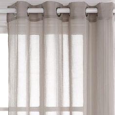 Houston Dove Grey Sheer 180x250cm Eyelet Curtain