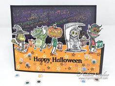 Trick or Treat Halloween Card with Brutus Monroe by @scrappinready