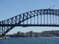 Sydney Harbour Bridge - see the tour groups close to the top?