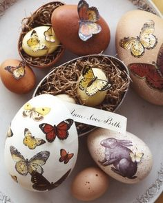 """See the """"Speckled Butterfly Egg Boxes"""" in our Easter Table Crafts and Favors gallery"""