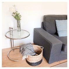 Decoration, Plaid, Design, Furniture, Home Decor, Round Basket, Wicker, Linens, Bicolor Cat