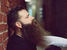 Brandon Cover - beautiful full thick beard side dark bushy beards bearded man men bearding #beardsforever