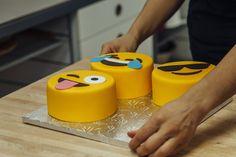 My mini chocolate cakes with fondant emoji faces :D : Baking Mini Chocolate Cake, Emoji Cake, Buckwheat Cake, Tuna Cakes, Seafood Platter, Tomato Mozzarella, Apple Cake, Cake Tins, Savoury Cake