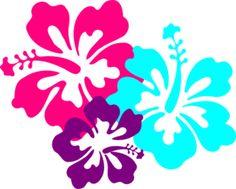 Hibiscus clip art for a luau