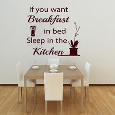 Sleep In The Kitchen Quote Sayings Vinyl Removable Orange Juice Wall Sticker Home Decor Living Room #Affiliate