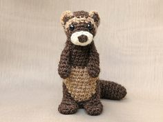 Bunsie the Crochet Ferret