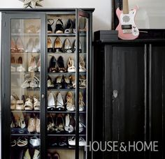 An enviable collection of beautiful footwear deserves to be given pride of place. | Photo: Angus Fergusson Design: Sarah Hartill