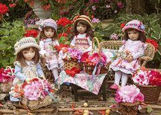 Brilliant!! The dolls are making bouquets.