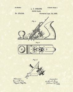 Bench Plane 1883 Patent Art #patentart