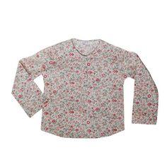 Camisa cuello caja con florecitas para niña y bebé por lanolino  etsy.com/shop/lanolino