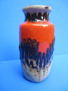 Scheurich Fat Lava Keramik Vase - geflämmt - rot braun - 213-20 -