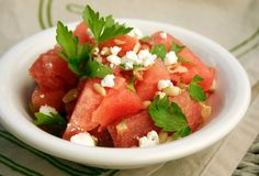 Watermelon and Bacon Salad | Laura Friendly. Shared via sharexy.com plugin Would this even be good??????
