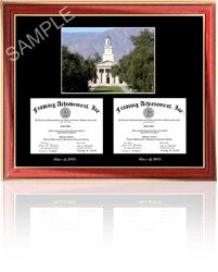 Dual diploma frame | double diploma frame Eastern Kentucky University diploma frames. We are your college diploma frame store. Our graduation picture diploma frames products include personalized diploma frames, engraved diploma frame and graduation picture frames for every college graduate