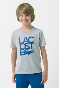 Boy's Short Sleeve Lacoste and Croc Graphic T-Shirt Happy Things, Boy Shorts, Lacoste, Sportswear, Polo, T Shirts For Women, Sleeve, Mens Tops, Clothes