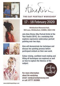Two day watercolour workshop. Paint portraits in watercolour in Cambridgeshire. Watercolor Portrait Painting, Watercolour, Painting Workshop, Painting Process, Illustration, Artist, Pen And Wash, Watercolor Painting, Watercolor