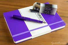 Purple Passion Package Set includes a purple Kaweco Skyline Sport, a box of Diamine Imperial Purple ink cartridges, and a purple Leuchtturm1917 notebook.