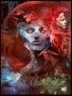 Android Jones - Portrait Android Jones, Digital Collage, Digital Art, Visionary Art, Fractal Art, Fractals, Psychedelic Art, Dark Art, Fantasy Art