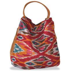 MY BAG! bryna nicole syrrano hobo multi ikat with honey trim