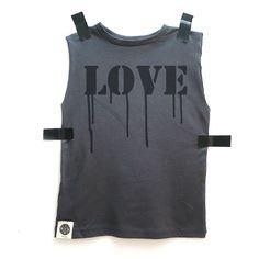A personal favorite from my Etsy shop https://www.etsy.com/il-en/listing/275284550/sale-kids-sleeveless-tee-dark-gray