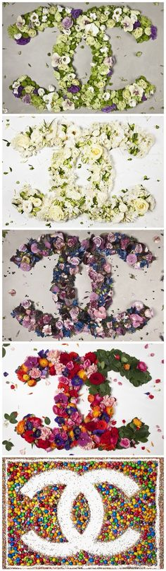 Chanel logo in flowers