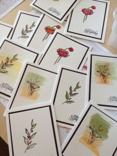 Water Color Simple Sympathy Card Ideas-These were made for a churches card ministry.  What a great idea!
