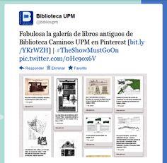 Old Books = Fondo antiguo / Biblioteca Caminos UPM   anuncio Twitter   #theshowmustgoon
