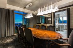 The dining room will comfortably seat ten, whereas the kitchen is a gourmet masterpiece finished in Carrara Marble.