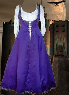 Renaissance Costume Medieval Garb FrontLacing 6 by camelots0closet, $58.00