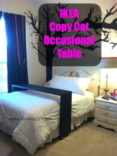 Occasional Table. I'm going to do this when I get a new bed frame that doesn't have a foot board.
