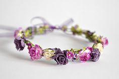 Variety purple flower crown Hair wreath by LuckyKidsHandmade