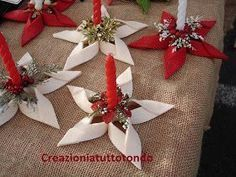 I can imagine a RW&B ribbon star, with rocket or candle center and metallic fireworks pick/spray in base where pine is located. Christmas Makes, Felt Christmas, Simple Christmas, Christmas Time, Christmas Wreaths, Christmas Decorations, Christmas Ornaments, Crochet Christmas, Christmas Activities
