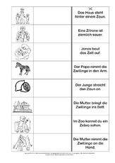 Lesen-Zuordnen-Schreiben - Grundschulmaterial-Fibel - Deutsch Klasse 1 - Grundschulmaterial.de Pdf, Group Work, Math Resources, First Grade