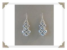 Gray right angle weave earrings - Beading Daily