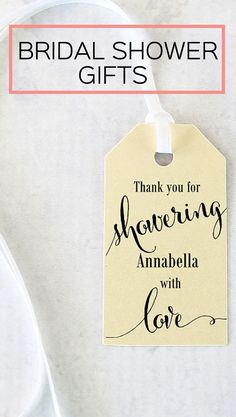 Simple baby shower favor idea and printable thank you What do you give at a bridal shower