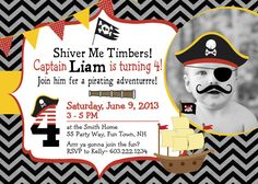 Pirate Birthday Party Invitation Pirate by AsYouWishCreations4u