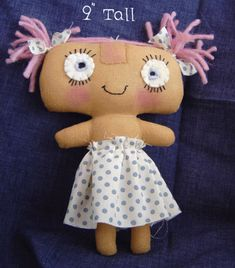 free soft doll patterns | ... dolls with this collection of over fifty free cloth doll patterns