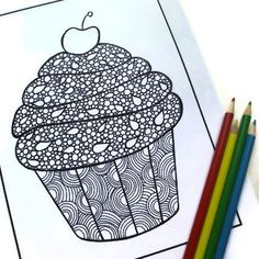 Zentangle Inspired Coloring Page Printable PDF by JoArtyJo on Etsy, $2.00